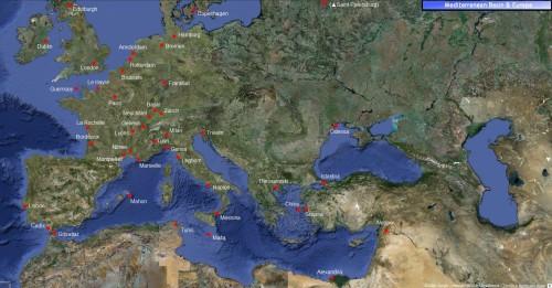 L'area di ricerca nel Bacino del Mediterraneo & in Europa
